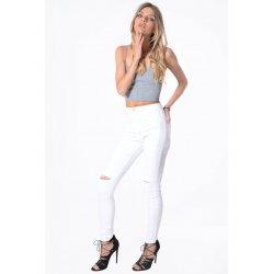 Pantalon vaquero corte rodilla ECRU - Glamorous