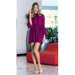 Vestido liso puntillas escote - Selected by AINE