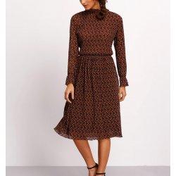 Vestido midi plisado estampado - Selected by AINE