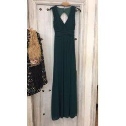 Vestido gasa con espalda descubierta - Selected by AINE