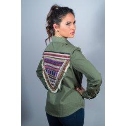 Chaqueta detalle etnico triangulo espalda - Selected by AINE