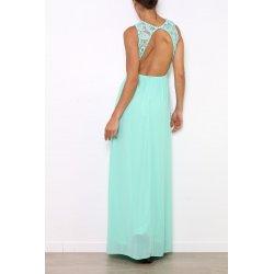 Vestido largo bordado pecho - Selected by AINE