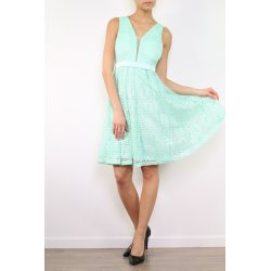 Vestido corto encaje transparente escote - Selected by AINE