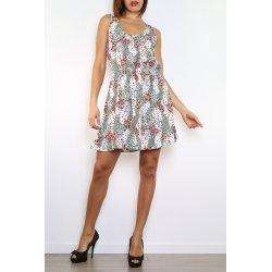 Vestido corto estampado en lazo espalda - Daphnea