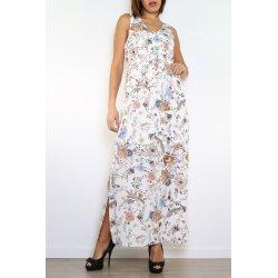 Vestido largo estampado flores y pajaros - Daphnea