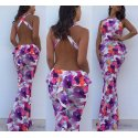 Vestido largo estampado - Selected by AINE
