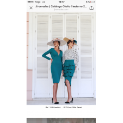 Vestido liso escote plisado - Selected by AINE