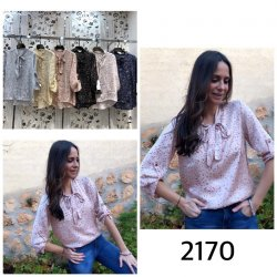 Blusa lazo cuello flor - Selected by AINE