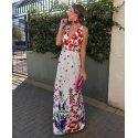 Vestido largo floreado - Selected by AINE