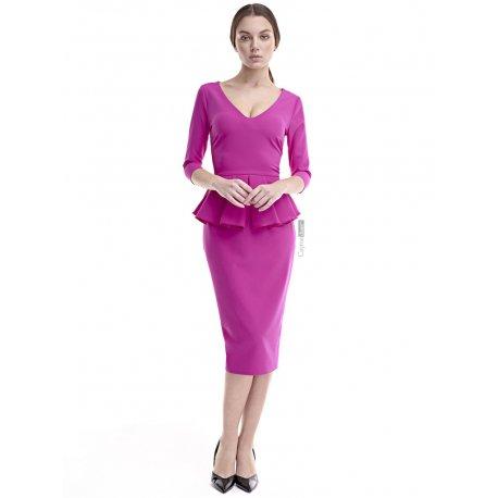 Vestido pico tablas cintura - Selected by AINE