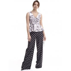 Pantalon negro lunar blanco - Selected by AINE