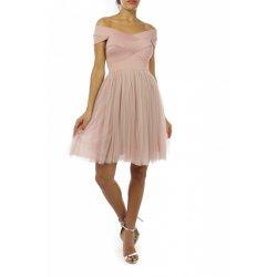 Vestido corto cuerpo banda falda tull - Selected by AINE