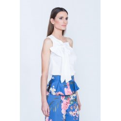 Blusa asimetrica lazo hombro - Selected by AINE