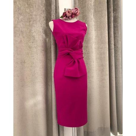 Vestido lazo cintura espalda pico - Selected by AINE