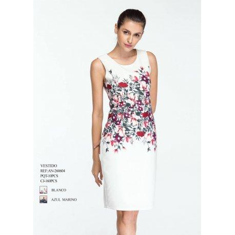 Vestido recto con flores - Selected by AINE