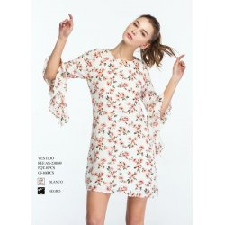 Vestido flores manga volante - Selected by AINE