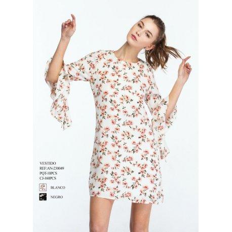 Vestido flores manga volante - Selected by AINE