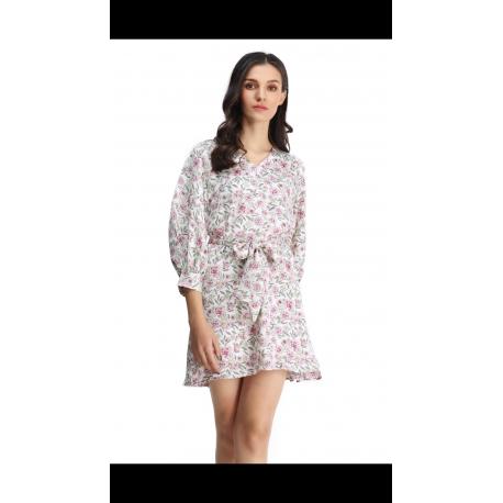 Vestido recto flores - Selected by AINE