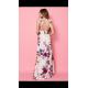 Vestido largo estampado lazos hombros - Selected by AINE