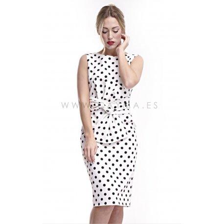 Vestido lazo cintura estampado - Selected by AINE