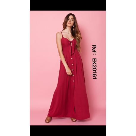 Vestido largo mussola botones - Selected by AINE
