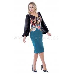 Vestido cenefa mangas gasa - Selected by AINE
