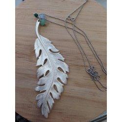 Collar pluma plata - Polarite